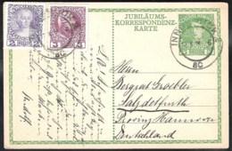 AUSTRIA Postal Stationery Mi. P207 With Additional Stamps From Innnsbrück To (BAD) SALZDETFURTH (Germany) - Enteros Postales