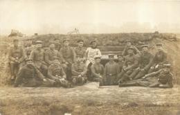 OFFENBACH CARTE PHOTO ALLEMANDE 1915 AVEC CACHET AU VERSO - Guerra 1914-18