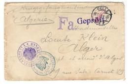 21360 - Double Censure  Pour L'ALGERIE - Marcofilia (sobres)