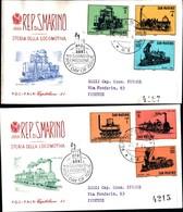 13155a) CartolinaF.D.C.SAN Marino  Storia Della Locomotiva - 29 Agosto 1964 - FDC