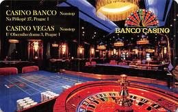 Banco Casino / Casino Vegas - Prague Czech Republic - PAPER Slot Card  .....[FSC]..... - Casino Cards