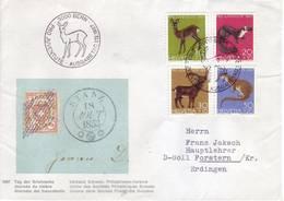 Svizzera 1967 - Fauna Locale, 4v. Su Lettera Viaggiata - FDC