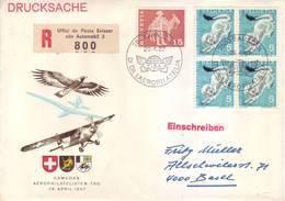 Svizzera 1966 - Ermellino, Quartina Su Raccomandata - Storia Postale