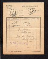 1919 Demande Collective De Mandats / CAD Recette Auxiliaire Urbaine Caen B Sur Semeuse Pour Alençon En A.R. - Handstempel