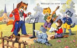 Chats Humanisés - Orchestre - Malbrough S'en Va-t-en Guerre ! ,,, Et Oiseaux écoutent :o) - Cats