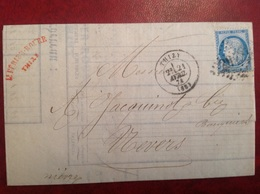 60B Type II ? Thizy Pour Nevers Banque Perier Roure - Marcophilie (Lettres)