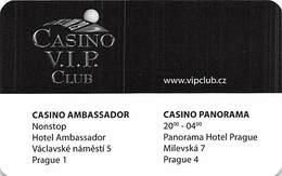 Casino VIP Club - Casino Ambassador / Casino Panorama - Czech Republic - Thin Plastic Slot Card   .....[FSC]..... - Casino Cards