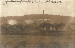 Cpa MARCHIENNE AU PONT, Superbe Carte-photo 1915 Avec Vue Sur Une BRASSERIE & Une VERRERIE - Charleroi