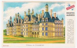 Buvard 14.9 X 9.5 Biscottes Allégées GREGOIRE Château De Chambord - Biscottes