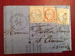 Saint Fargeau Pour St Amand Banque Toutee Fils Bureau Passe 897 - 1849-1876: Période Classique