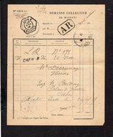 1919 Demande Collective De Mandats / CAD Recette Auxiliaire Urbaine Caen B Sur Semeuse Pour Venoix En A.R. - Marcophilie (Lettres)