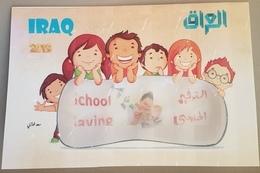 Iraq 2019 NEW DELUXE FOLDER - School Saving, Children Paintings - Iraq