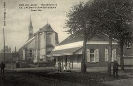 Cpa SANTVLIET - ZANDVLIET - ANTWERPEN, Café Den Anker - Beenhouwerij, Ch. JACOBS-LOUWERYSSENS - Belgique