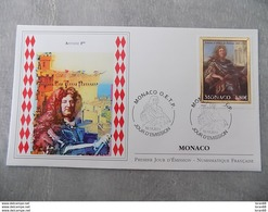 FDC MONACO 2011 : Prince Antoine 1er De Monaco (1661-1731) , Gaufrage Du Timbre En Or - FDC