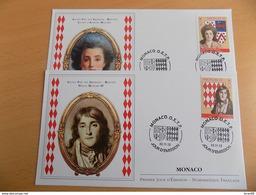 FDC (2) MONACO 2012 : Ancien Fief Des Grimaldi, Belfort (timbres De 0.55 Euros) - FDC