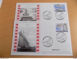 FDC (2) MONACO 2013 : Yachting (timbres De 1.00 Et 1.55 Euros) - FDC