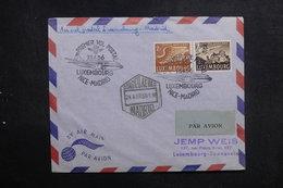 LUXEMBOURG - Enveloppe 1er Vol Luxembourg / Madrid En 1956, Affranchissement Plaisant - L 40892 - Luxemburg