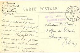 GUERRE 14-18 DEPOT 43e RÉGt TERR. D'INF. Manuscrit  : 27ème Compagnie 27ème Escouade TàD EPINAL-R.P. VOSGES Du 11-11-15 - Postmark Collection (Covers)