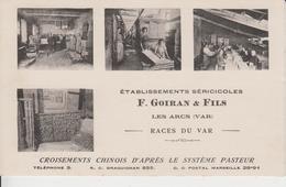 VAR - ETABLISSEMENTS SERICICOLES F.GOIRAN FILS  - LES ARCS  ( - Carte Multi Vues - N'a Pas Circulé ) - Les Arcs