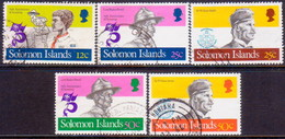 SOLOMON ISLANDS 1982 SG #477//84 Part Set (5 Stamps Of 8) Used Boy Scout Movement - Solomon Islands (1978-...)
