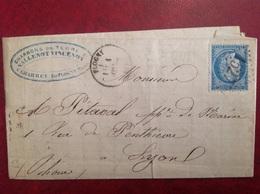 Charrey Par Flogny Charbon Vallenot Vincenot GC 1527 Cachet OR - Storia Postale