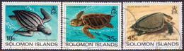 SOLOMON ISLANDS 1983 SG #485-87 Part Set (only 50c Missing) Used Turtles - Salomon (Iles 1978-...)