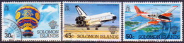 SOLOMON ISLANDS 1983 SG #493//97 Part Set (3 Stamps Of 5) Used Bicentenary Of Manned Flight - Solomon Islands (1978-...)