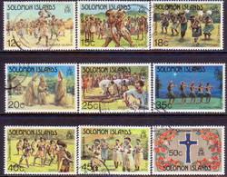 SOLOMON ISLANDS 1983 SG #498-506 Compl.set Used Christmas - Salomon (Iles 1978-...)
