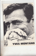 Cpsm  Yves Montand - Artistas