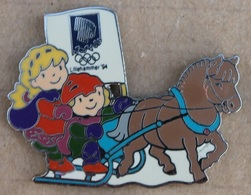 JEUX OLYMPIQUES LILLEHAMMER '94 - CALECHE - CHEVAL - PFERD - HORSE -           (18) - Olympische Spiele