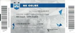 Sport Ticket UL000741 - Football (Soccer Calcio) Osijek Vs Hajduk Split 2018-03-18 - Match Tickets