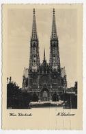 (RECTO / VERSO) WIEN EN 1931 - VOTIVKIRCHE - FORMAT CPA VOYAGEE - Églises