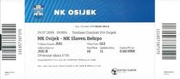 Sport Ticket UL000743 - Football (Soccer Calcio) Osijek Vs Slaven Belupo 2019-07-19 - Match Tickets