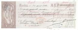 RAFFINERIE ETIENNE        Nantes 1882      Fiscal - Letras De Cambio