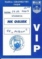 Sport Ticket UL000757 - Football (Soccer Calcio) Osijek Vs Mosor 2003-10-29 - Match Tickets