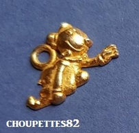 Fèves Fève 1992 Popeye Pendentif Métal Doré Mimosa Plate*260* - Fèves