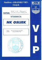 Sport Ticket UL000762 - Football (Soccer Calcio) Osijek Vs Dinamo Zagreb 2003-11-22 - Match Tickets