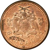 Monnaie, Barbados, Cent, 1991, Franklin Mint, TTB, Bronze, KM:10 - Barbados