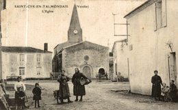 CPA RARE SAINT CYR EN TALMONDAIS L'EGLISE - Autres Communes