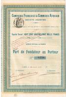 Titre Ancien - Compagnie Française De Commerce Africain - Titre De 1900 - N°0.226 - Afrika