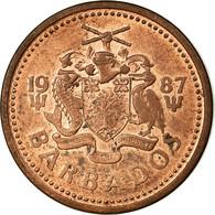 Monnaie, Barbados, Cent, 1987, Franklin Mint, TTB, Bronze, KM:10 - Barbados