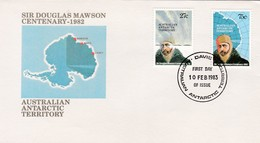 1983 AUSTRALIA ANTARTIC TERRITORY SIR DOUGLAS MAWSON CENTENARY 1982 FDC - Other