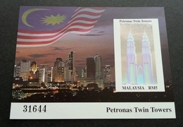 Malaysia Petronas Twin Towers 1999 Landmark Aga Khan Awards Building Tourism (imperf Ms) MNH *Hologram *Unusual - Malaysia (1964-...)
