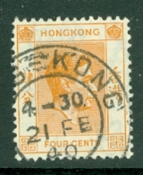 Hong Kong: 1938/52   KGVI     SG142     4c    Used - Hong Kong (...-1997)