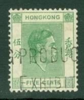 Hong Kong: 1938/52   KGVI     SG143     5c    Used - Hong Kong (...-1997)