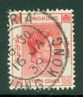 Hong Kong: 1938/52   KGVI     SG146     15c     Used - Hong Kong (...-1997)