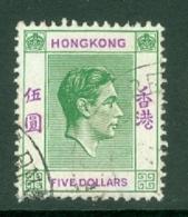 Hong Kong: 1938/52   KGVI     SG160     $5   Green & Violet    Used - Hong Kong (...-1997)