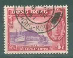 Hong Kong: 1941   Centenary Of British Occupation Set    SG164    4c    Used - Hong Kong (...-1997)