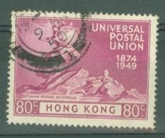 Hong Kong: 1949   U.P.U.    SG176     80c     Used - Hong Kong (...-1997)