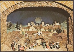 Mount Carmel - Christmas Scene.  Basilique De Notre Dame Du Mt. Carmel - Basilica Of Our Lady Of Mt. Carmel. - Israël
